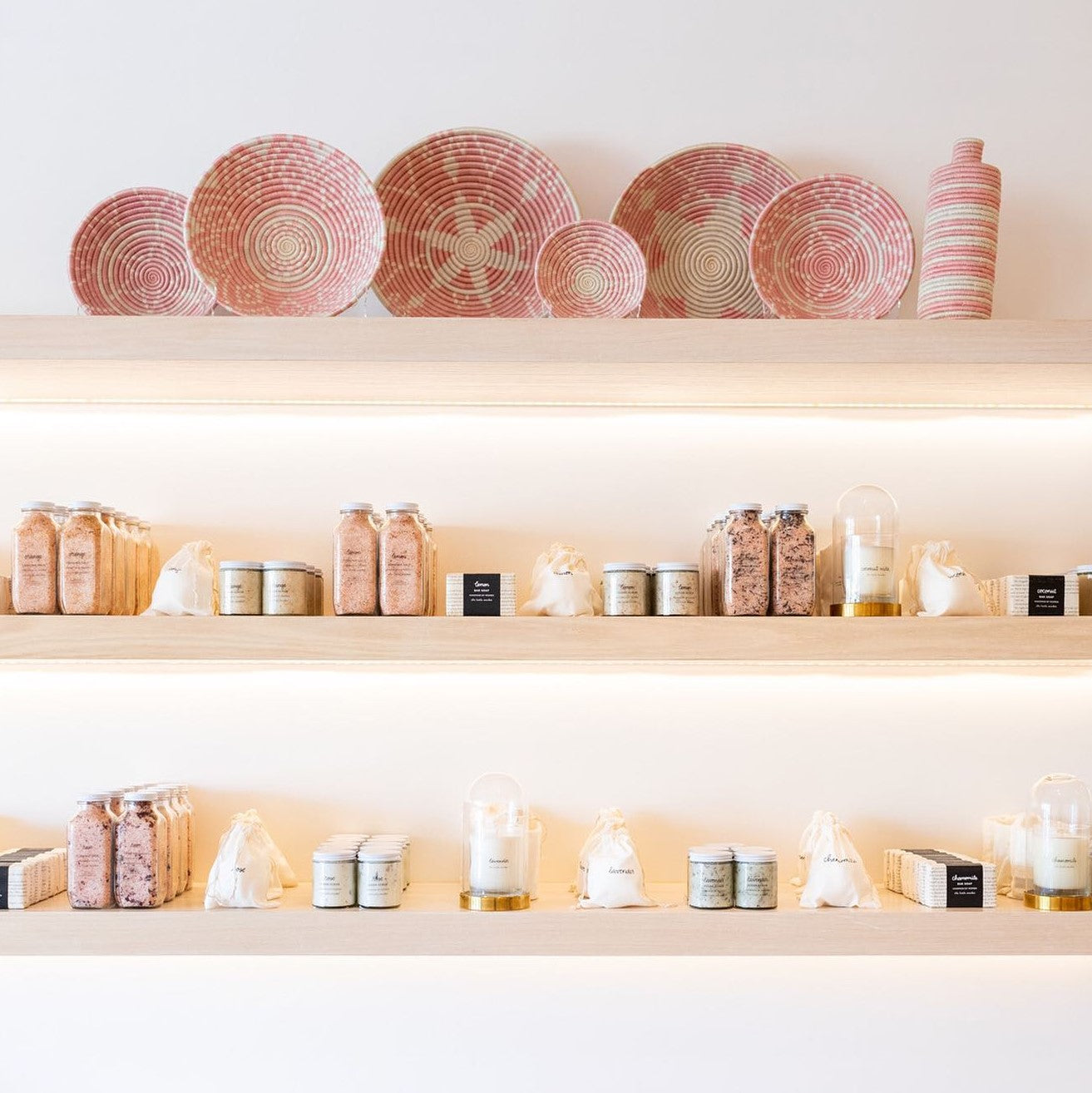 Small businesses like The Little Market compete with Amazon with ethical products like these beautiful handwoven bowls and wellness products.