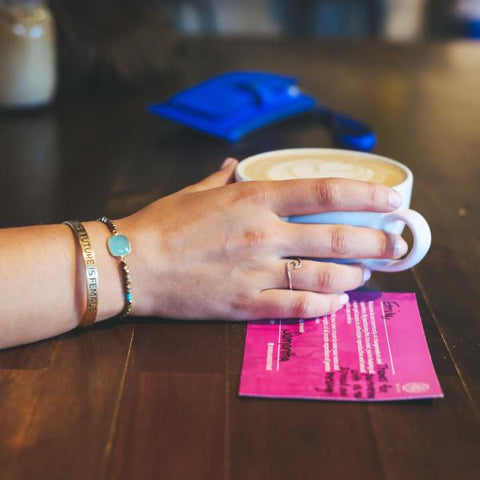Bird + Stone Cleopatra Bracelet Coffee Cup + Cause Card