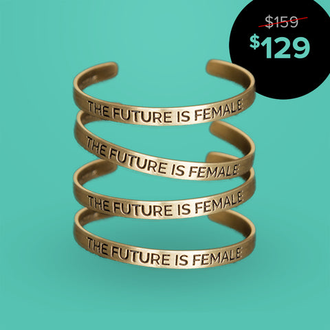 The Future is Female (Gold) - Set of Four