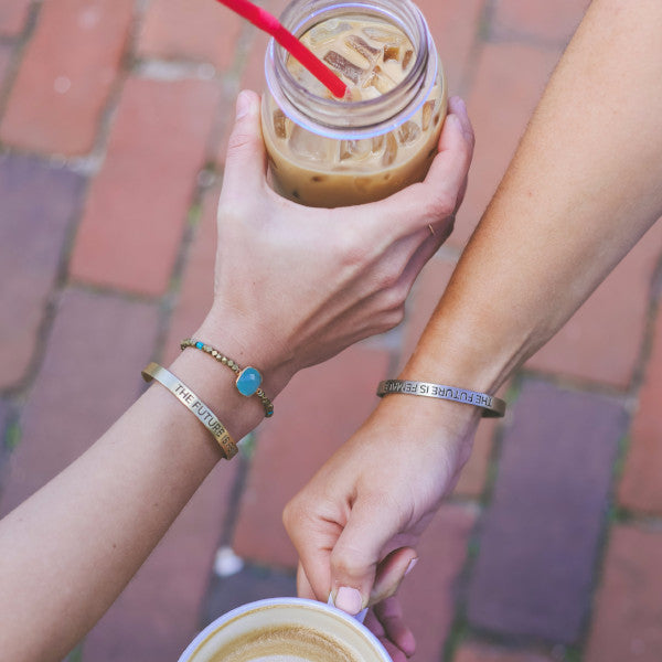 Bird + Stone The Future is Female Cuff Bracelet Iced Coffee