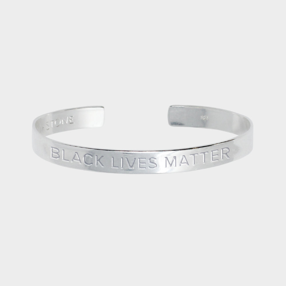 Black Lives Matter Cuff - Sterling Silver