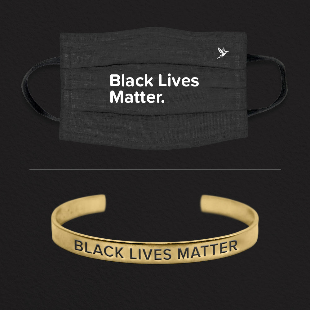 Black Lives Matter Cuff + Mask Set