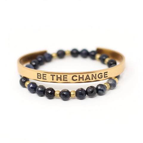'Be the Change' + Maya bracelet set