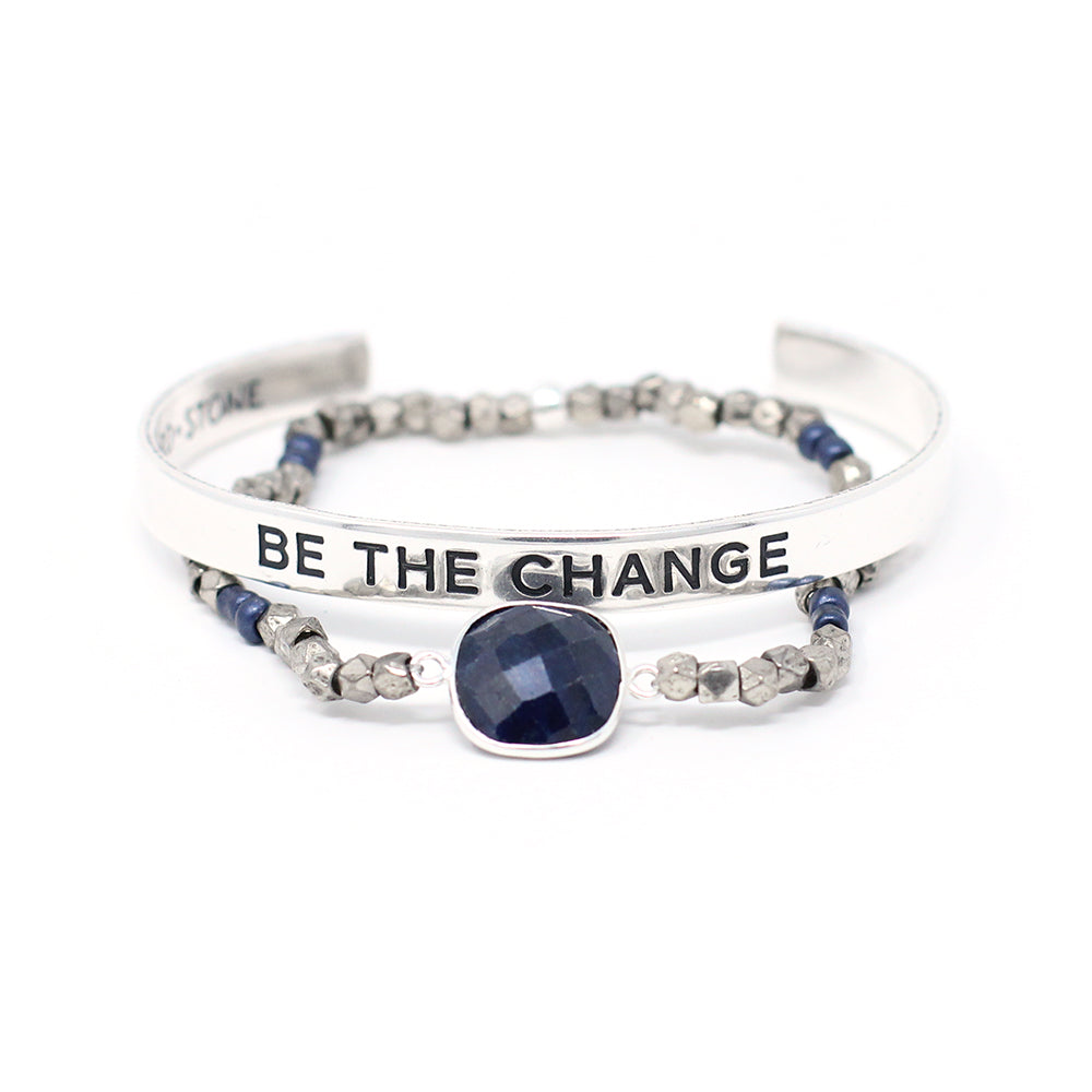 'Be The Change' + Cleopatra Bracelet Set
