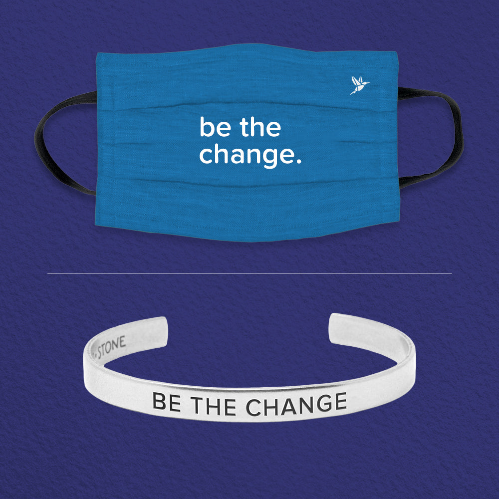 Be the Change Cuff + Mask Set