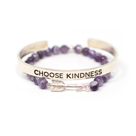 'Choose Kindness' + Arrow bracelet set