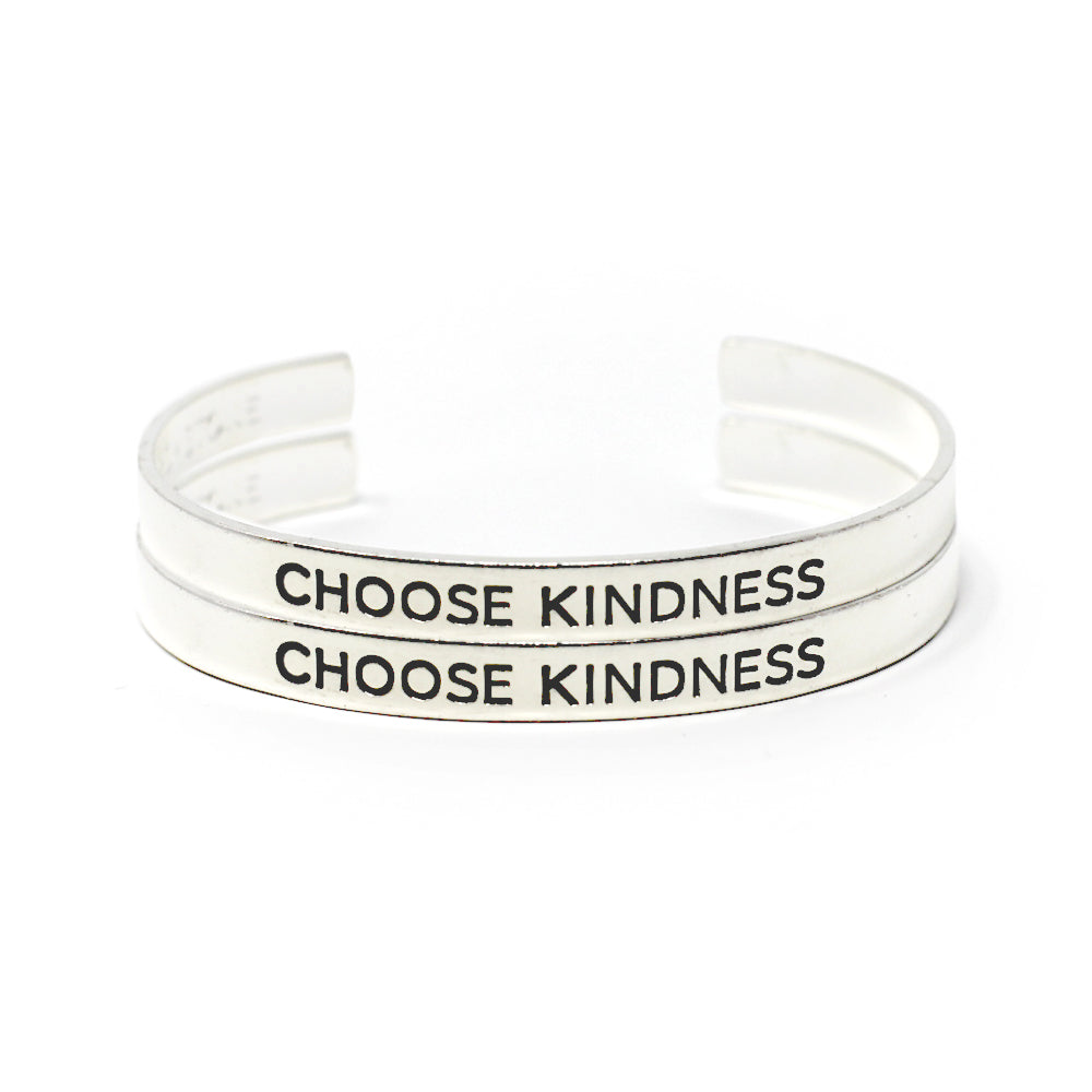 'Choose Kindness' Cuff - Set of Two