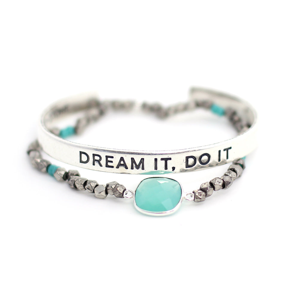'Dream it, Do it' + Cleopatra Bracelet Set