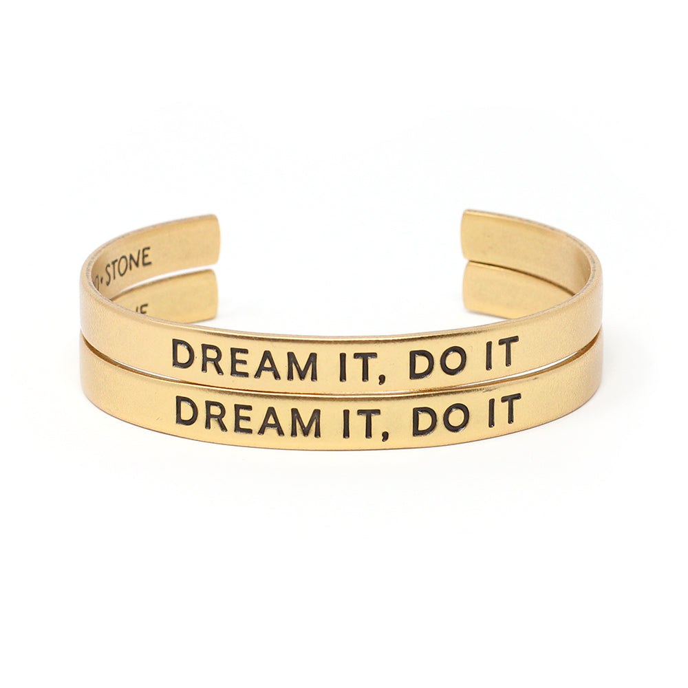 'Dream It, Do It' Cuff - Set of 2