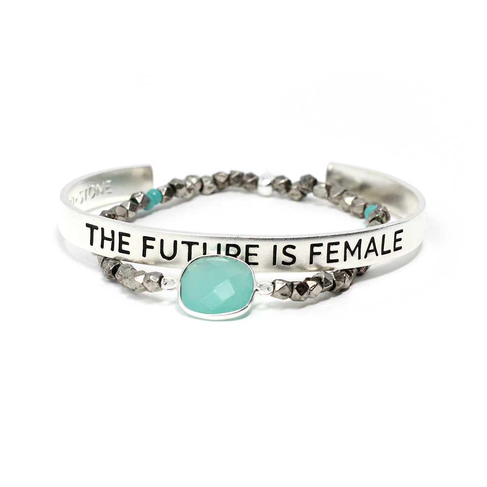 'The Future is Female' + Cleopatra Bracelet Set