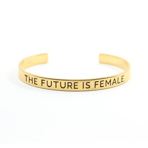 Bird + Stone The Future is Female Gold-Plated Cuff