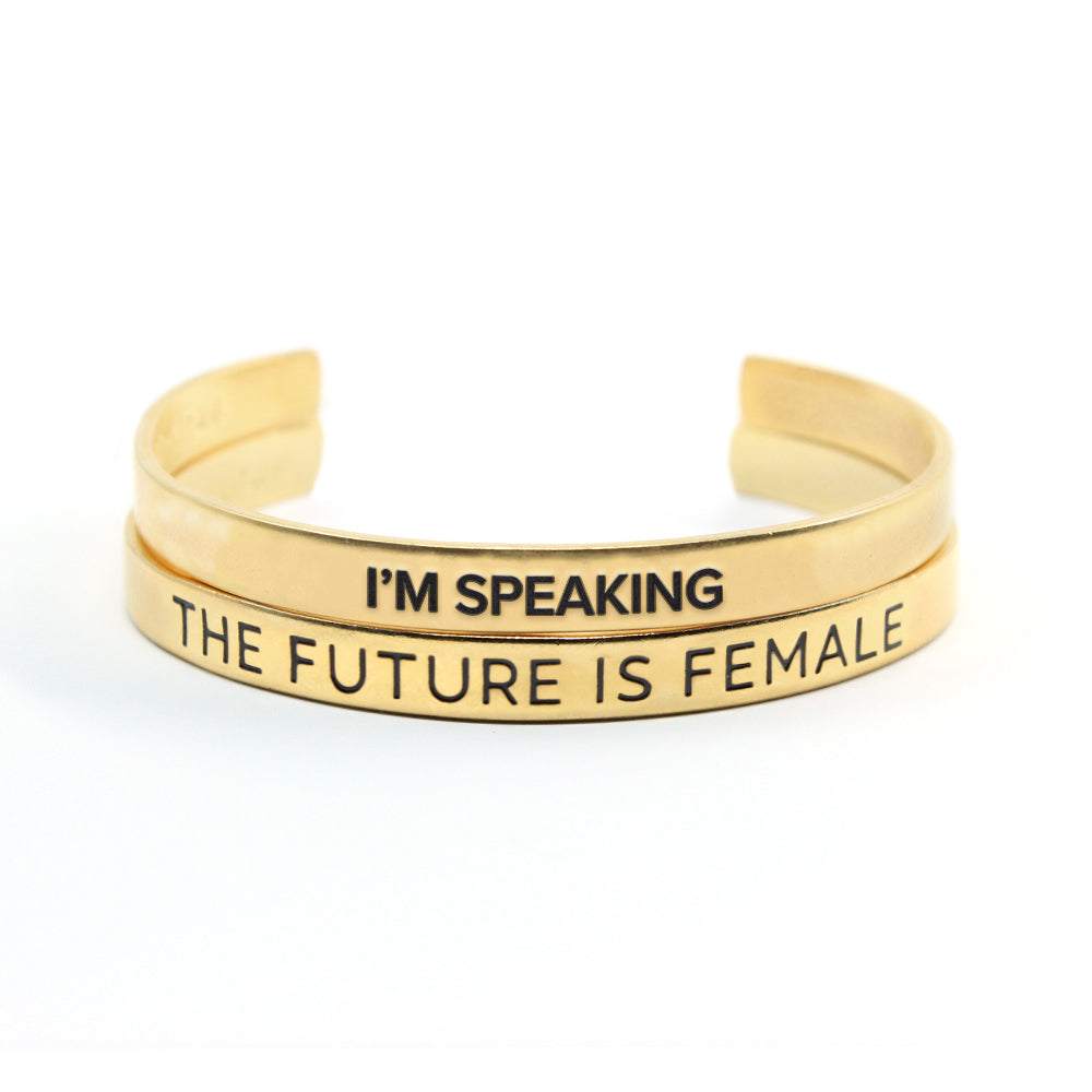 Speak Up Cuff Set