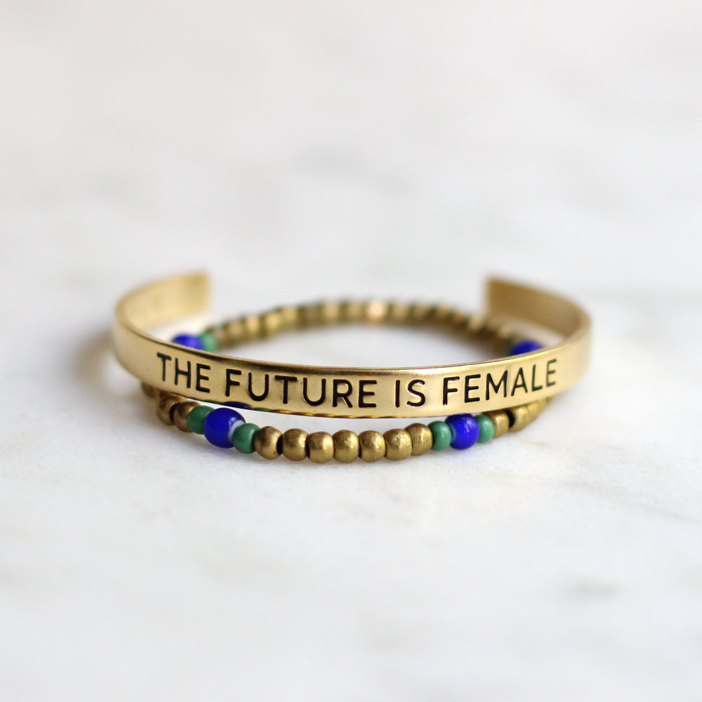 'The Future is Female' & Ruth Bracelet Set