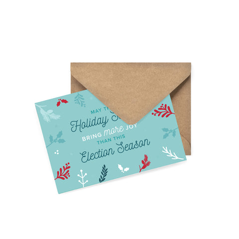 'More Joy Than Election Season' Holiday Card