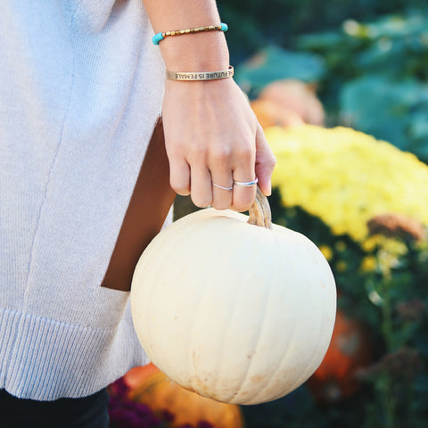 Bird + Stone Awali Beaded Bracelet with Pumpkin