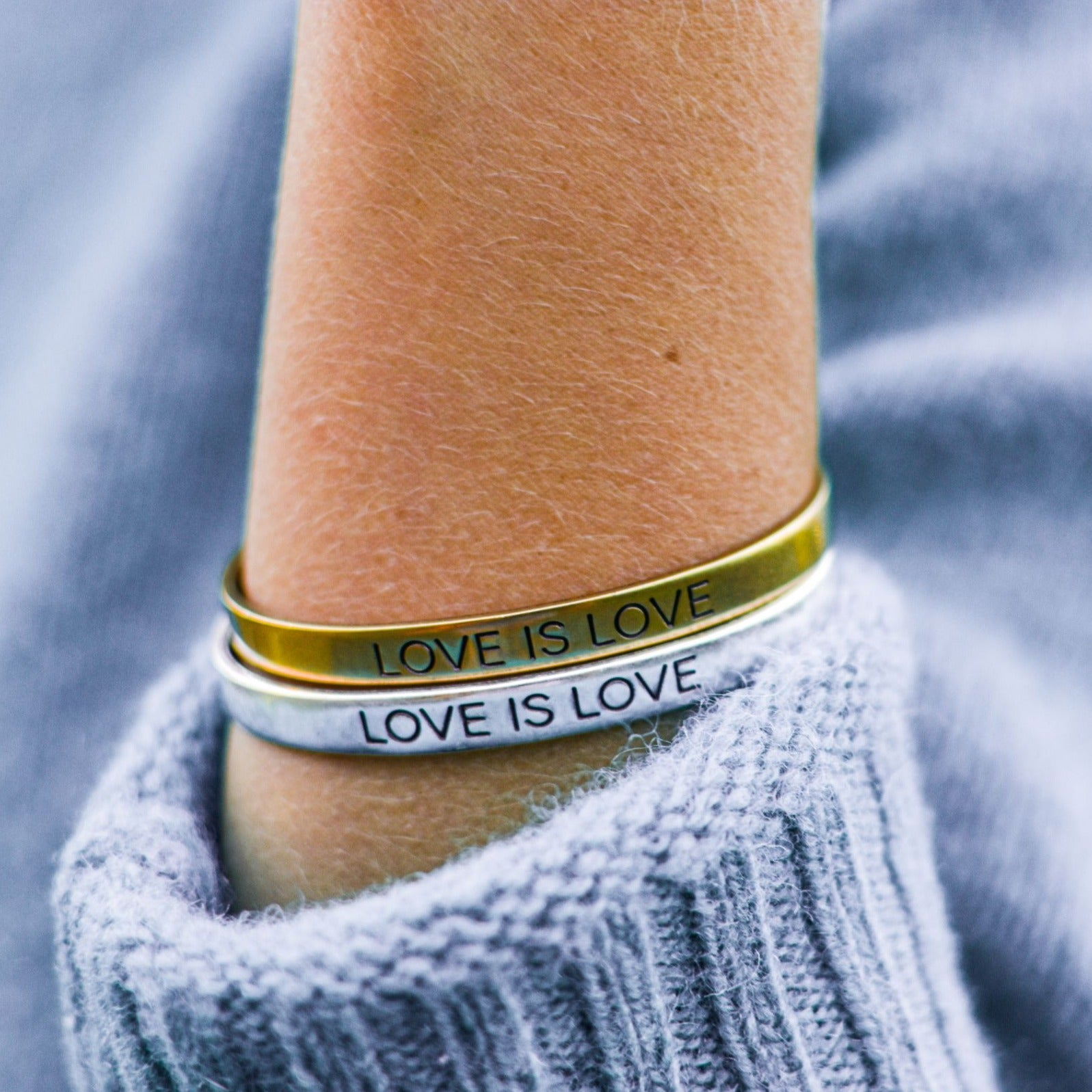 Love is Love Cuff Set