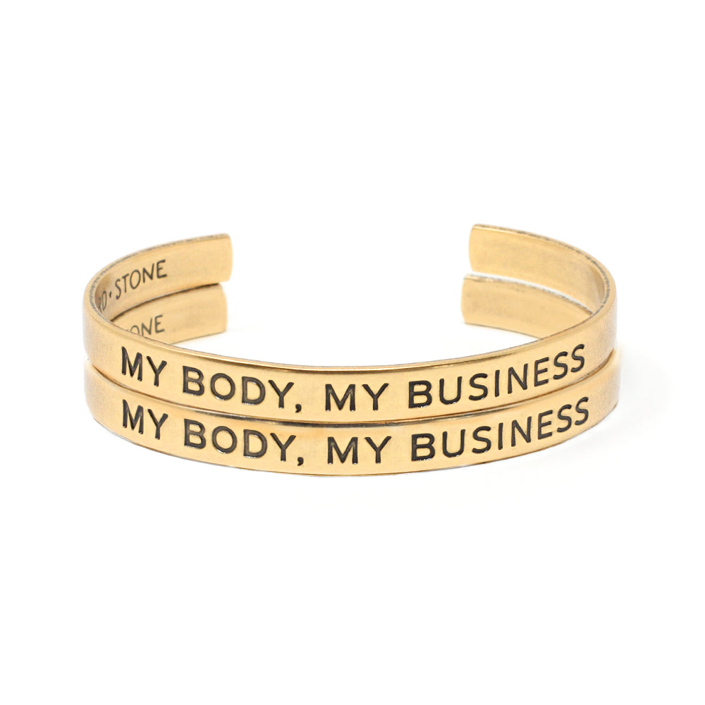 'My Body My Business' Cuff - Set of Two
