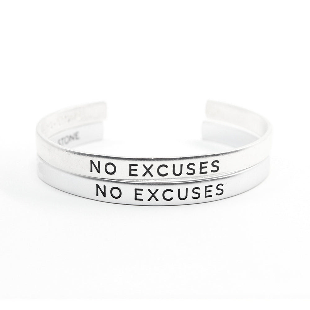 Bird + Stone No Excuses Cuff Bracelet Set in Silver - TheSkimm
