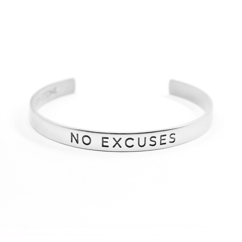 No Excuses Silver-Plated Cuff