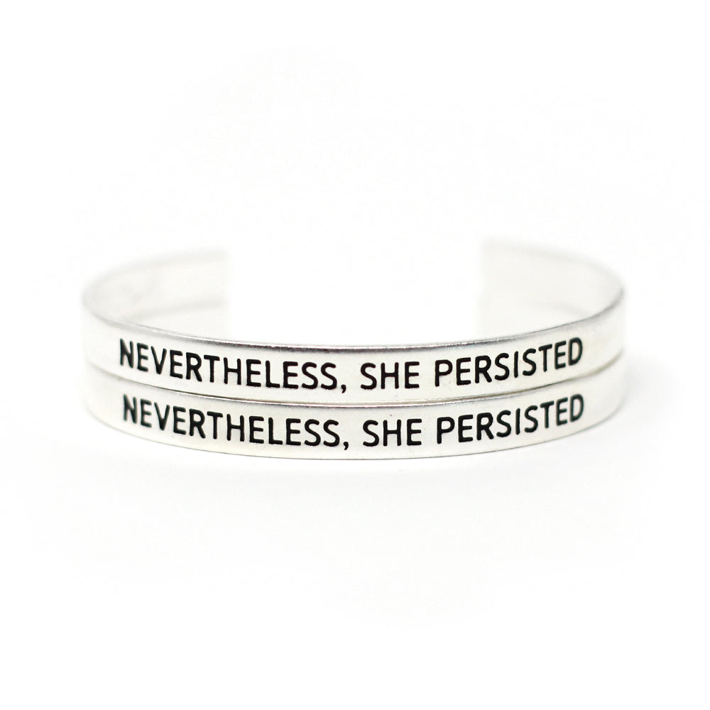 'Nevertheless, She Persisted' Cuff - Set of Two