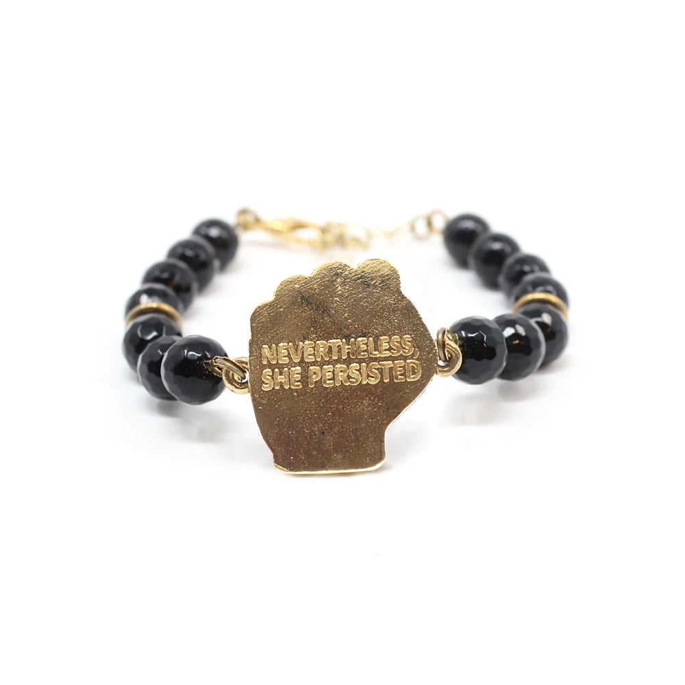 Bird + Stone Nevertheless, She Persisted Beaded Bracelet Back