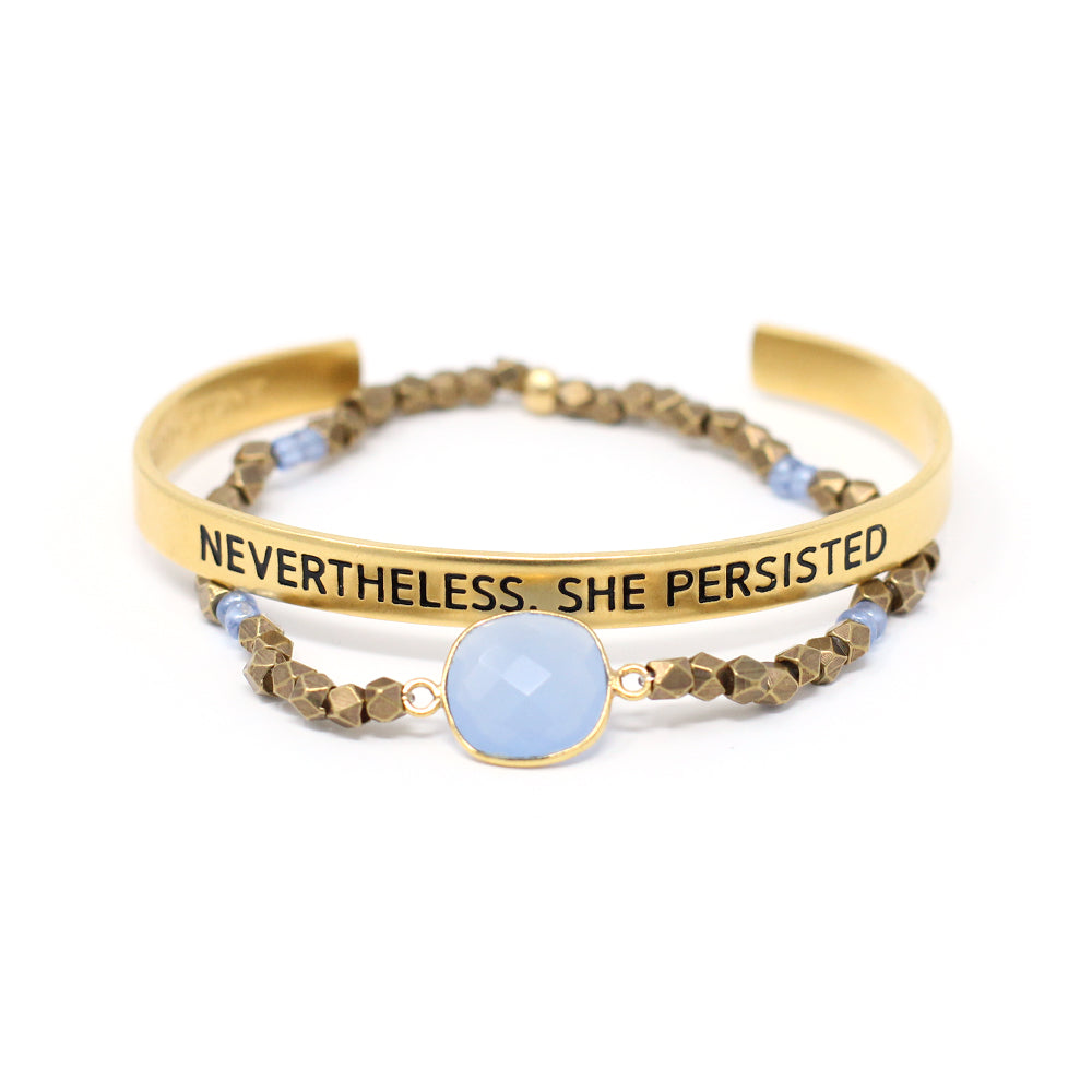 'Nevertheless, She Persisted' + Cleopatra Bracelet Set