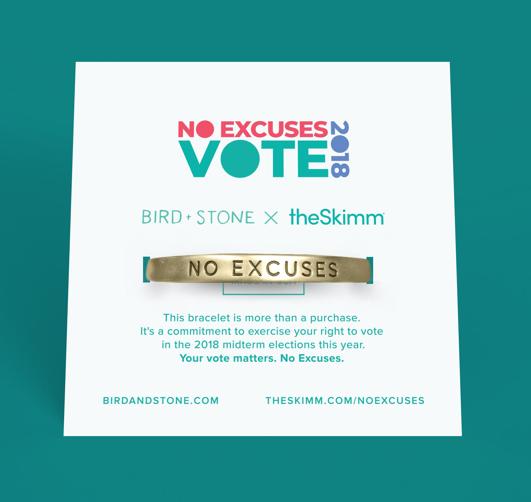 'No Excuses' Cuff
