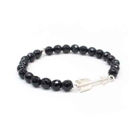 Bird + Stone Onyx Arrow Beaded Bracelet