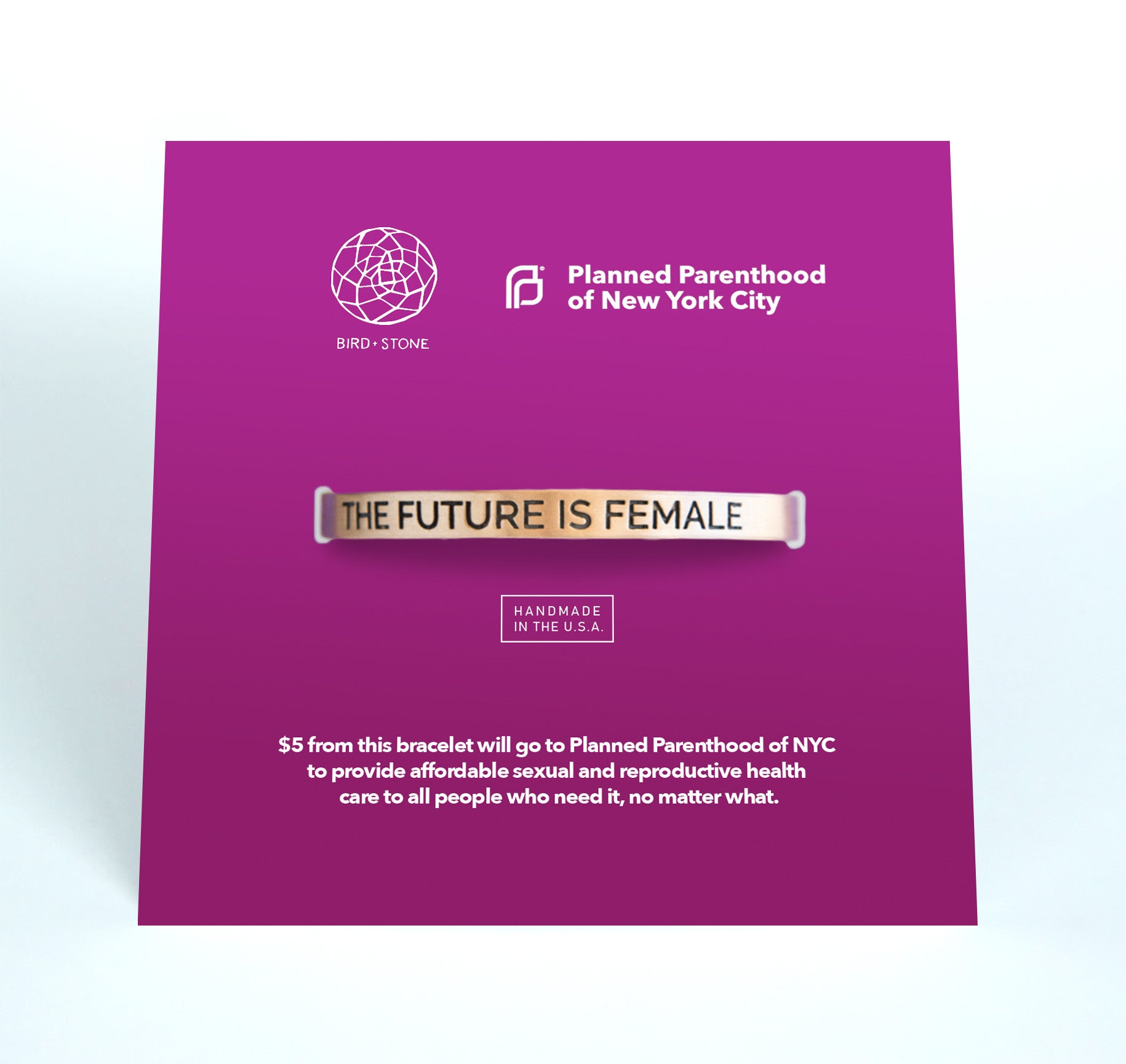 Bird + Stone The Future is Female Gold-Plated Cuff Planned Parenthood of NYC