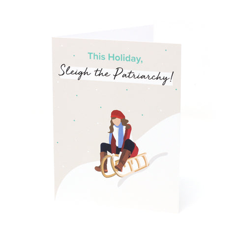 'Sleigh the Patriarchy!' Holiday Card