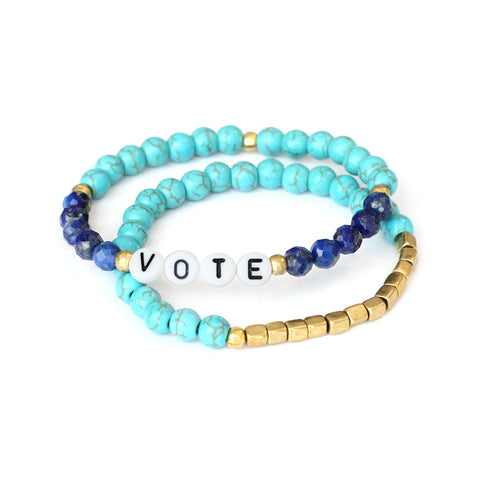 'Vote' and Awali Bracelet Set - Pre order