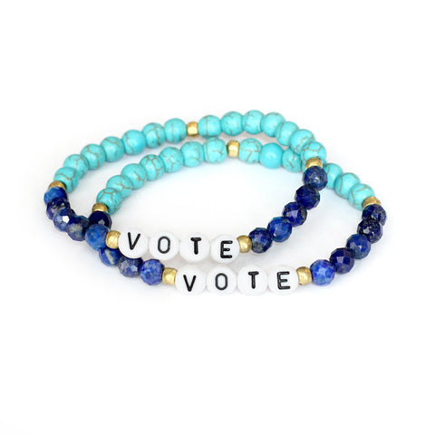 'Vote' Bracelet Set of Two