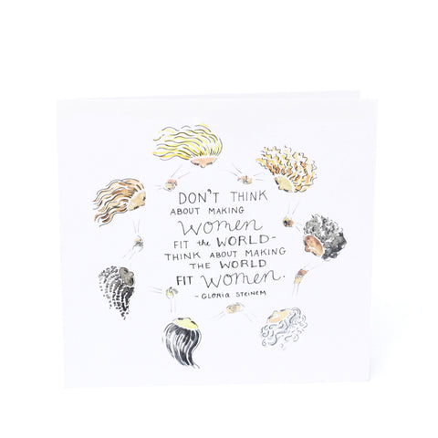 Bird + Stone Make the World Fit Women Card