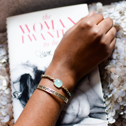 Bird + Stone Cleopatra Beaded Bracelet on Wrist
