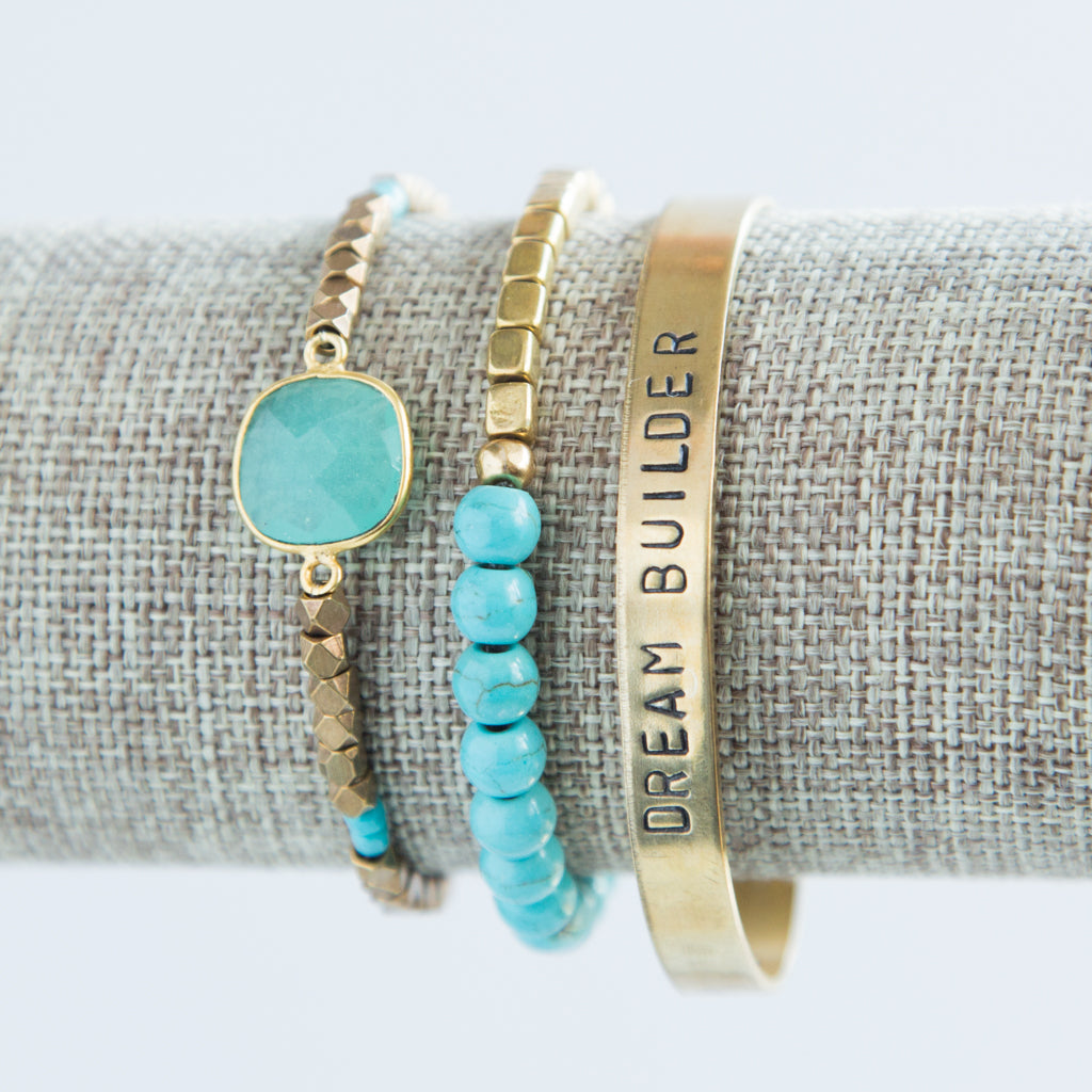 'Dream Builder' + Cleopatra + Turquoise Awali Bracelet Set