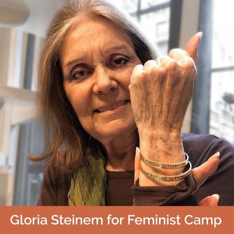 Bird + Stone Gloria Steinem Feminist Camp The Future Is Female Cuff Bracelet