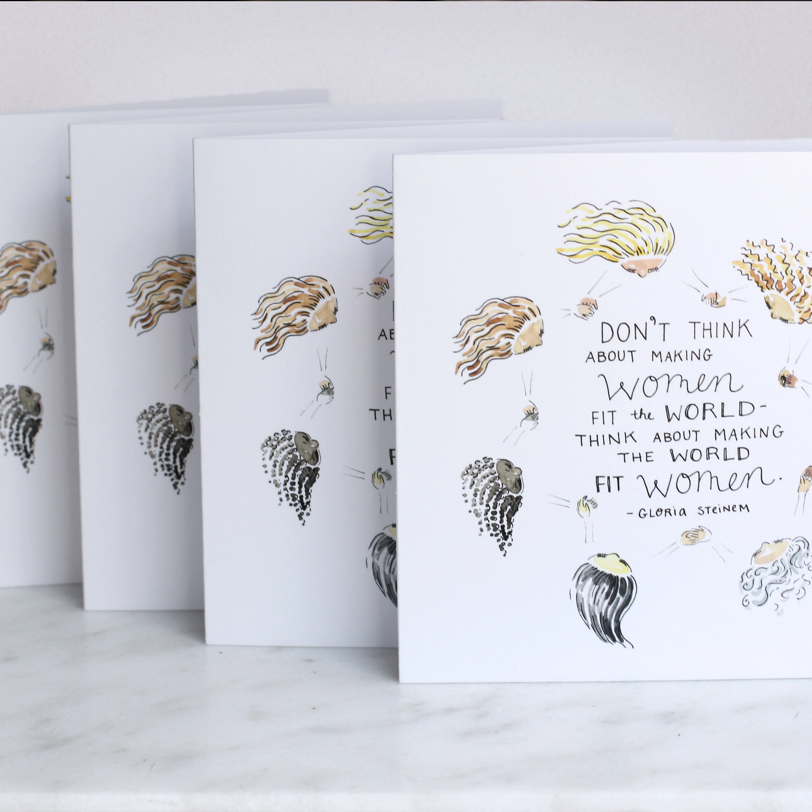 Make the World Fit Women Greeting Card