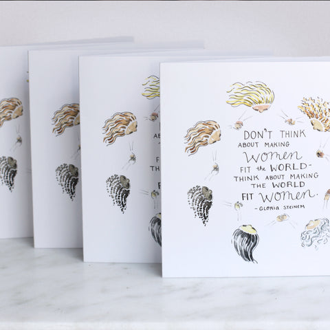 'Make the World Fit Women' Greeting Card