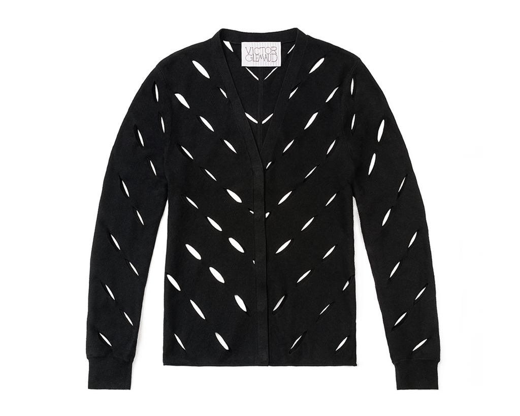 Multi Slash Cardigan - Black