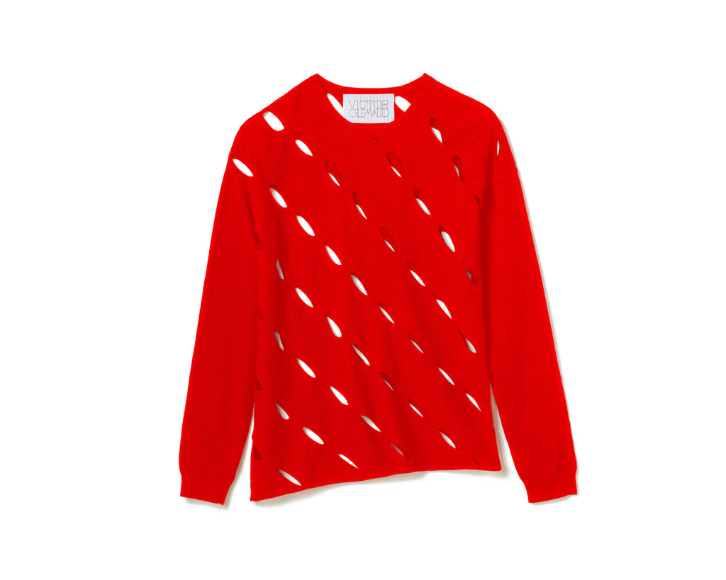 SLASH SWEATER – RED