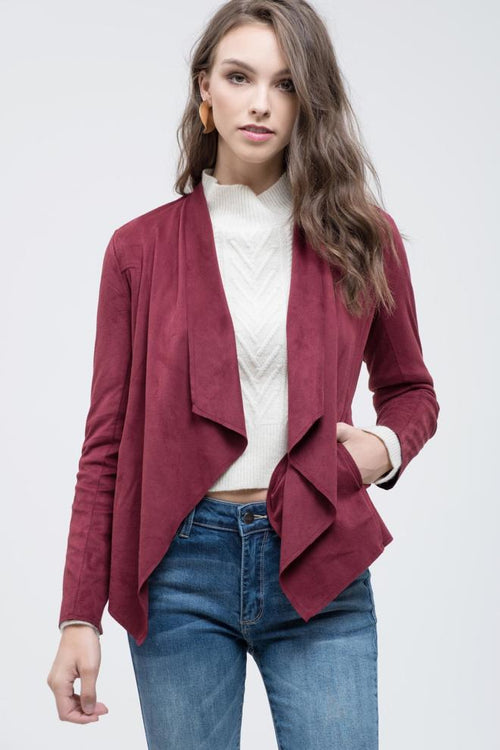 Suede Burgundy Jacket