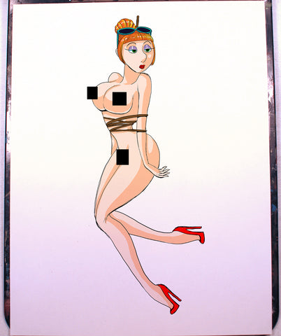 Lucy Wilde Pinup Comic Art Color Print NDE
