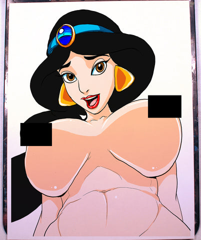 Jasmine Pinup Comic Art Color Print NDE