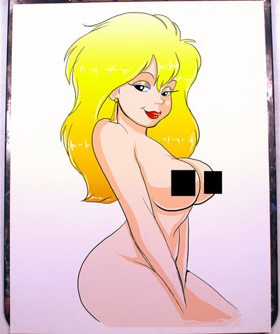 Mitzi Avery Pinup Comic Art Color Print NDE