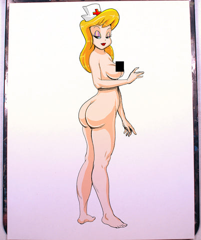 Helloo Nurse Pinup Comic Art Color Print NDE