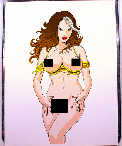 Rogue Pinup Comic Art Color Print NDE