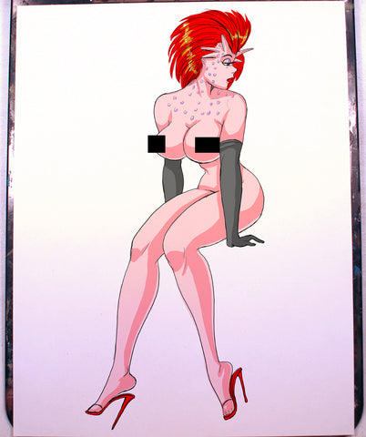 Rystall Pinup Comic Art Color Print NDE