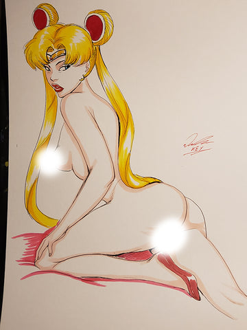 Sailor Moon Pinup Original Comic Art NDE
