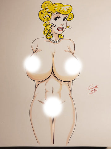 Blondie Pinup Original Comic Art NDE