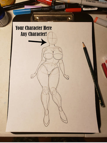 Custom Character Request (Face) in Pose #25-2 Work in Progress Color Original Art